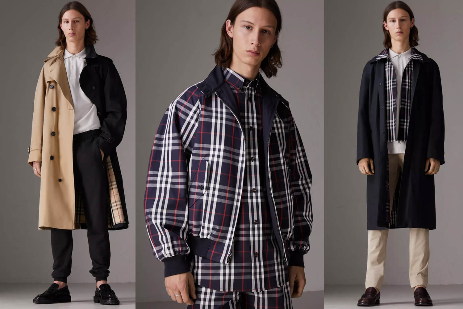 see all the looks from the new gosha x burberry capsule collection men 39 s folio malaysia. Black Bedroom Furniture Sets. Home Design Ideas