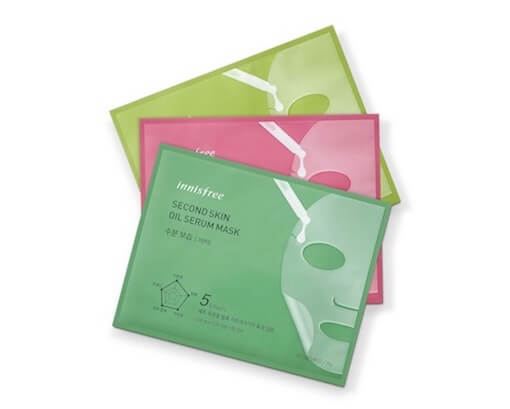 innisfree Second Skin Oil Serum Mask set latestt