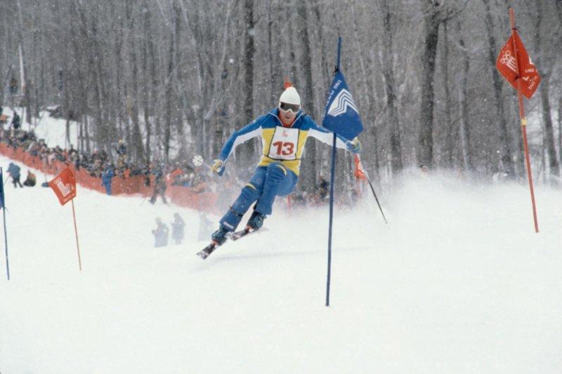 JO Hiver Lake Placid 1980, Ski alpin, slalom Hommes - Ingemar STENMARK (SWE) 1e.