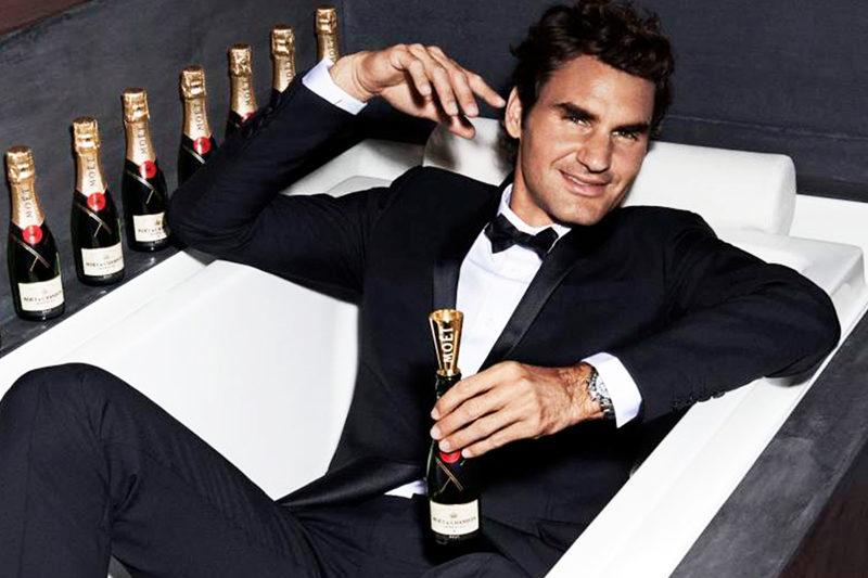 Roger Federer Open The Now for Moet