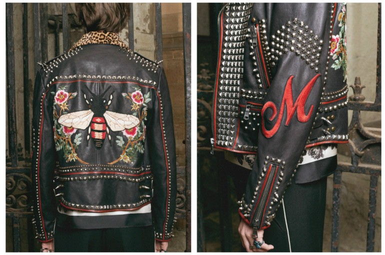 f3416f2dd55596 Make your own one-of-a-kind Gucci jacket now with Gucci DIY service ...