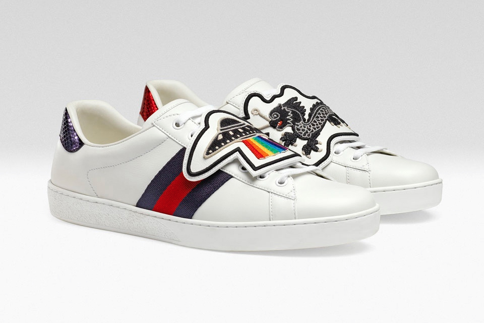 c6d7526e6c9 Gucci Ace sneakers now has interchangeable patches - Men s Folio ...