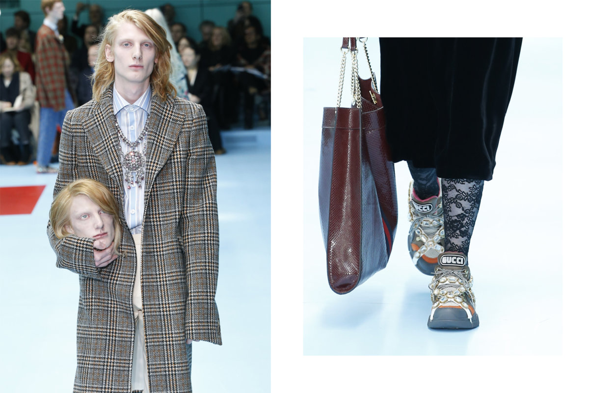 04909a433bc 5 unforgettable moments of the Gucci Fall 2018 show - Men s Folio ...