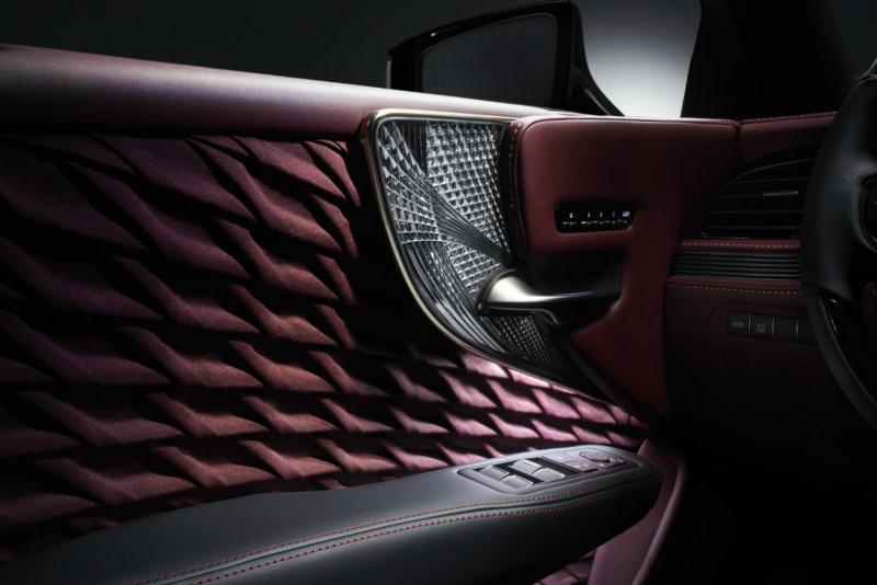 Lexus LS 500 - Kiriko Glass Ornamentation & Hand-Pleated Upholstery