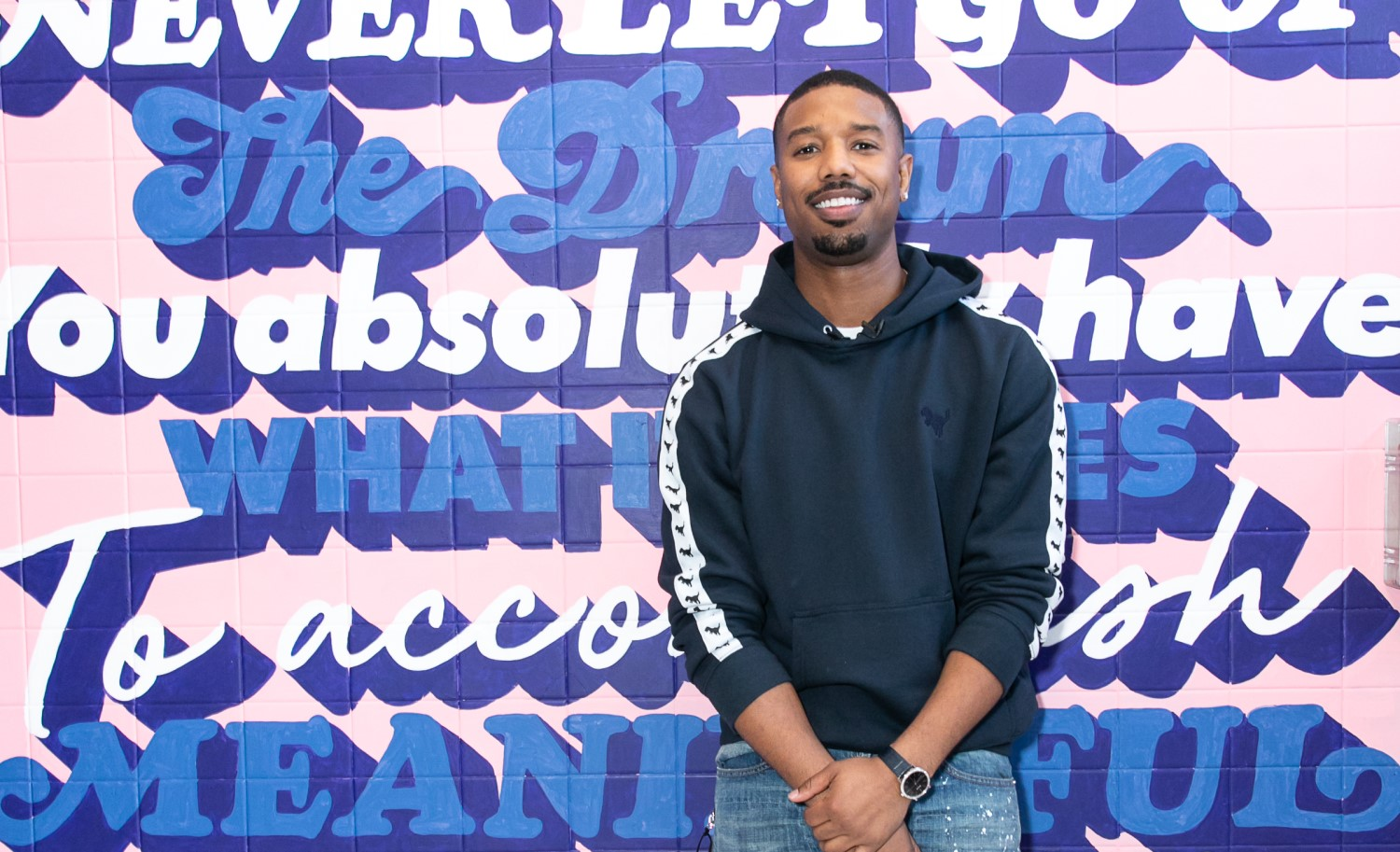 Language In 45 And 47 Stella Street: Michael B Jordan And Coach Made Surprise Visit To